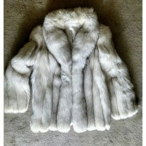 Jackets & Blazers - Luxurious Fabulous Silver Fox Fur Stroller Coat